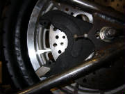 Harley Davidson Sportster - Custom Rigid - Alternative Cycle build I - mounting the rear disc