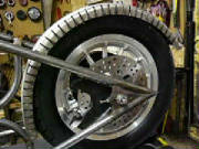 Harley Davidson Sporster - Custom Rigid - Alternative Cycle build I - rear wheel I