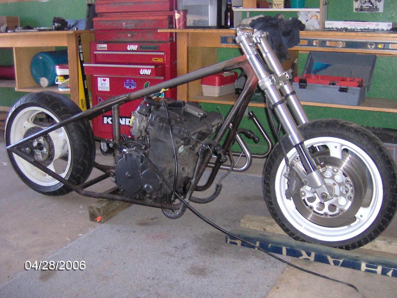 Chris Trottiers Suzuki Gs750 Motorcycle Gs Custom Rigid Chopper