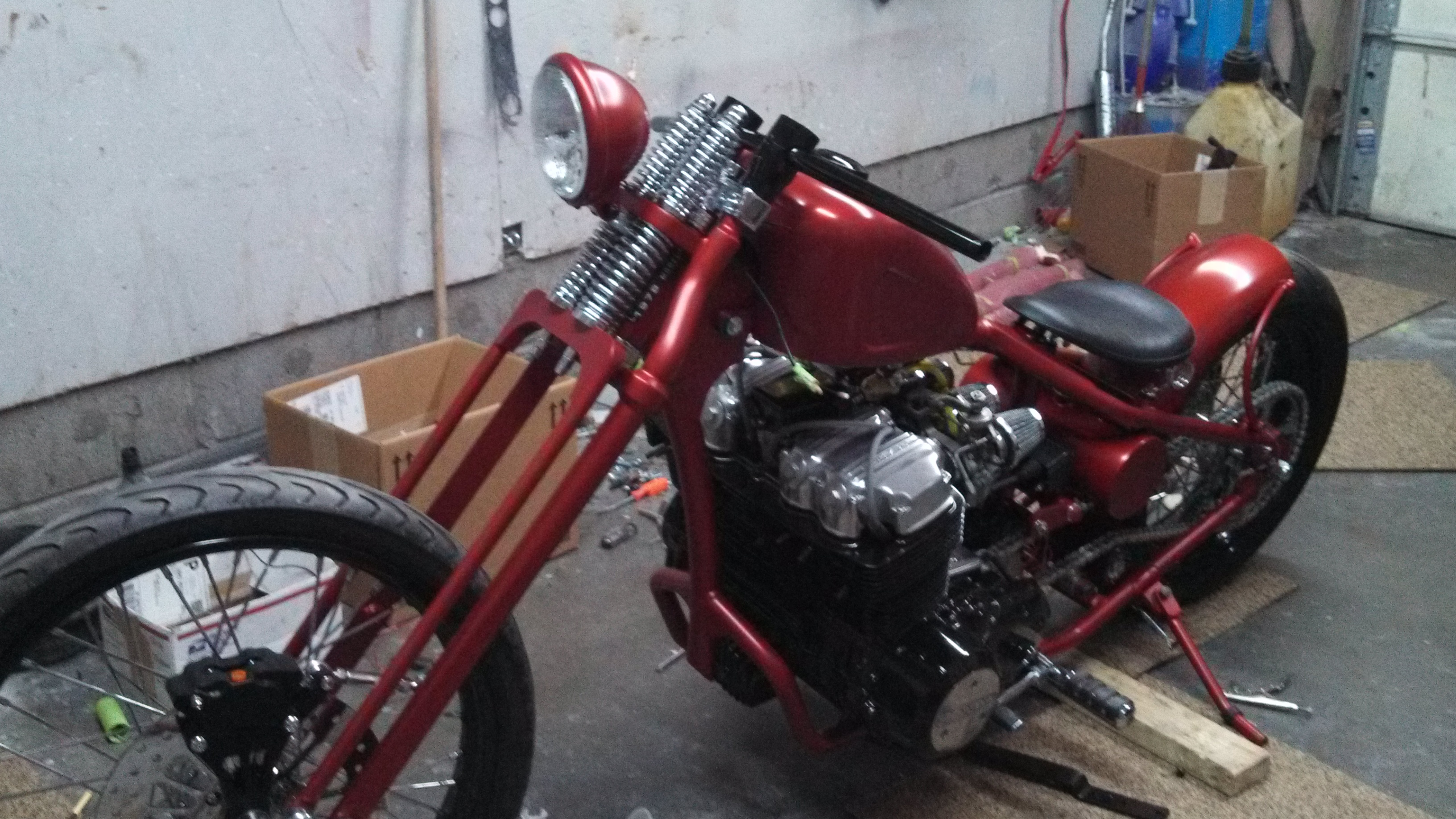 1978 Honda CB750 Custom Rigid Frame